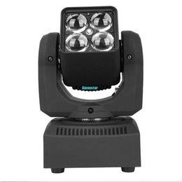 Free Shipping New Hot Sale 4*10W RGBW 4in1 LED Moving Head Light with Zoom for Disco Dj Lighting