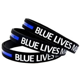 100PCS Lot Blue Lives Matter Silicone Wristband Bracelet It is Soft And Flexible Great For Normal Day To Day Wear