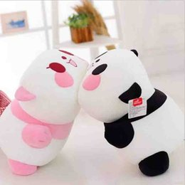 2017 oreillers panda en peluche Livraison Gratuite Mente plongee panda peluche jouet panda poupée oreiller en peluche animaux panda belle cadeaux de la Saint-Valentin peu coûteux oreillers panda en peluche