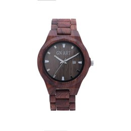 GNART Art Fashion Wooden Watch Analog Quartz Light Weight Vintage Wrist Watch for Men