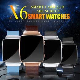 Nouveaux écrans de téléphone en Ligne-Brandw Smartwatch X6 Montre Montre Téléphone Suppoort SIM TF Carte Bluetooth 3.0 2.5D HD Ecran Tactile Couleur Bracelet En option