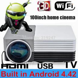 Vente en gros- Plus récents Android 4.42 wifi mini projecteur Projecteur de cinéma maison pour les jeux vidéo TV Movie Support HDMI VGA AV Portable newest video games deals à partir de nouveaux jeux vidéo fournisseurs
