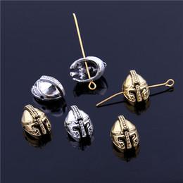 Wholesale Sweet Bell Min order mm hole mm two color skull Spartan Helmet Spacer Beads For Bracelets DIY Making Jewelry Z9007