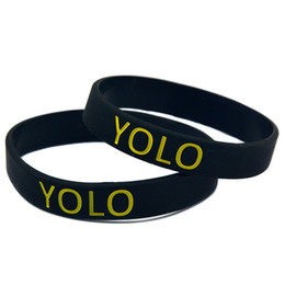 100PCS Lot YOLO You Only Live Once Silicon Wristband, It' Soft And Flexible Great For Normal Day To Day Wear