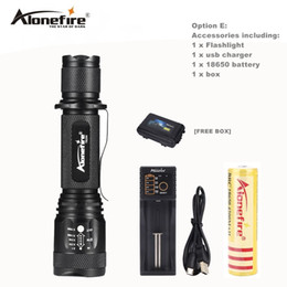 AloneFire TK200 lanterna powerful led cree xml T6 usb zoom flashlight tactical torch flash light self defense 18650 battery