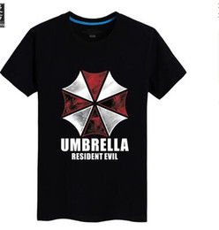 Wholesale man t shirt game Resident Evil umbrella printed Personality tee plus size S XL