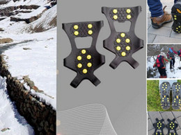 Wholesale 10 Studs For Anti Slip Shoes Boots Grips Ice Cleats Spikes Snow Gripper Snow Crampons Anti Slip Spikes Grips Crampon Cleats KKA1201