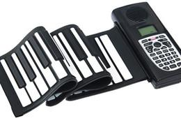 Promoción Los más nuevos 61 llaves flexibles portátiles Roll Up Piano electrónico suave teclado de silicona Midi Digital Synthesizer desde enrollar 61 teclas fabricantes