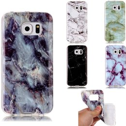 Wholesale New Fashion Granite Marble Stone image Painted Soft Silicone IMD TPU Cover For Samsung GALAXY S6 edge G9250 Phone Cases
