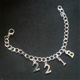 12pcs Sherlock Inspired Full Charm Bracelet 221B Charms bracelet