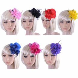 Feather Chapeau Ruban Mariage Gauze dentelle Plume Fleur Mini top chapeaux fascinator parti cheveux clips bouchons homburg millinery Bridal Accessoires à partir de ruban de chapellerie fabricateur