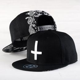 2017 Brand Snapback Caps Strapback Baseball Cap Bboy Hip-hop Hats For Men Women Fitted Hat Black