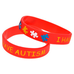 100PCS Lot I have Autism Silicone Wristband for Kids Carry This Message As A Reminder in Daily Lif By Wear This Bracelet
