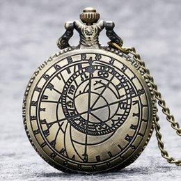 Compra Online Mujer del reloj del collar-Venta al por mayor-Nuevo Vintage Bronce Steampunk Cuarzo Collar Pendiente Reloj de Bolsillo Reloj de Bolsillo Hombre Mujer Regalos P208