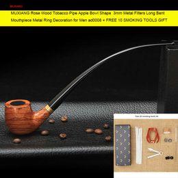 Wholesale 9 см Toos Klit Long Классическая пароварка для курения трубы с мм металлическим фильтром Деревянная труба для табака Властелин колец Китайская фабрика ad0008
