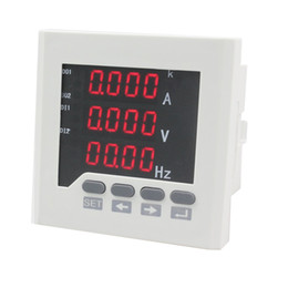 Wholesale ME UIF73 mm white and black LED digital display voltage current and frequency meter of high quality
