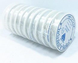 Free Shipping 10Rolls lot White stretch elastic cords beading cords For DIY craft Jewelry Findings Components WS38