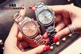 Wholesale HANNAH MARTIN Japan Movt White Luxury Brand Women Fashion HM Watches Reloj Mujer Quartz Casual Wristwatch Montre Femme Marque De Luxe