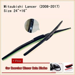 High Quality U-type Universal Car Windshield Wiper With Soft Natural Rubber For Mitsubishi Lancer Freeca Wagon Soveran Grandis Outlander EX