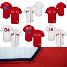 Wholesale Men s Boston Red Sox jersey David Ortiz Dustin Pedroia Stitched Majestic Home Flex Base Authentic Player baseball jerseys