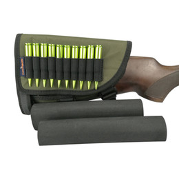 Wholesale Tourbon Hunting Shooting Adjustable Gun Rest Ammo Stock Pad Green Rifle Cheek Rest Pieces Shells Right Hand