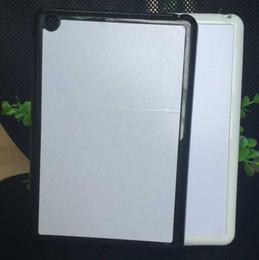 wholesale Fashion Rubber TPU+PC 2D DIY Sublimation Case with Aluminium Metal Sheet Glue for ipad mini 1 2 3 for ipad air case