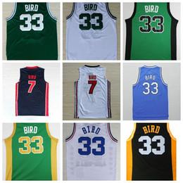 2017 maillots de sport Hommes # 33 Larry Bird Jerseys Vert Blanc Indiana State Sycamores Collège Larry Bird 1992 Dream Team Sport Jerseys Bleu Blanc maillots de sport sortie