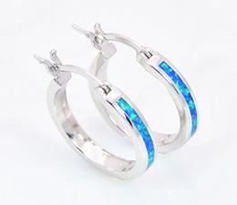 Wholesale & Retail Fashion Blue&White&Pink&Purple Fine Fire Opal Earrings 925 Silver Plated Jewelry EMT16042604