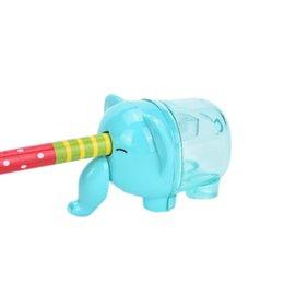 Niños mini lápiz en Línea-El elefante animal lindo creativo al por mayor creó el mini cuchillo del cortador del sacapuntas de lápiz embroma el regalo del premio del estudiante La fuente de la escuela de los efectos de escritorio de Kawaii