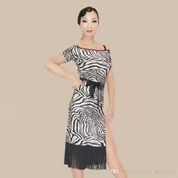 G003 Adult Latin Dance Dress Salsa Tang Cha cha Ballroom Competition Tassel Group Dance Dress with belt