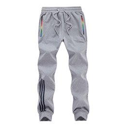 Big Size 5XL 2017 Fashion Leisure Tracksuit Bottoms Mens Sport Running Sweatpants Mens Striped 100%Cotton Joggers Breathable Pants