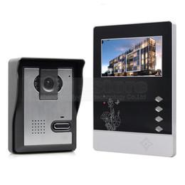 DIYSECUR Video Intercom 4.3 inch TFT Color LCD Display Aluminum Alloy Camera Video Door Phone Doorbell