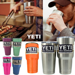 Wholesale colorful Yeti Tumbler Rambler Cup oz tumbler Mug Double Stainless Steel Insulation Travel Cups Coffee Beer Cups Cooler OZ Yeti Mugs