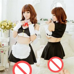 Free Shipping New COS sexy sexy underwear large size transparent maid servant uniform fat MM play extreme temptation sm sow pajamas suit