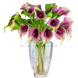 Canada Décoration de mariage, Table Center, 25 pcs jeu de vase de calla lys réels, blanc orange vert jaune rouge rose violet green white wedding centerpieces on sale Offre