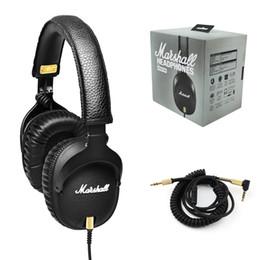 High quality Marshall Monitor headphones With Mic Deep Bass DJ Hi-Fi Headphone HiFi Headset Professional DJ Monitor on ear Headphone DHL