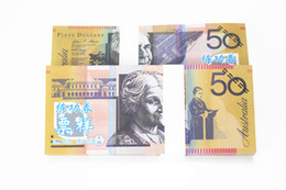 Wholesale 100Pcs Australian AUD Trainings Banknotes Home Arts Crafts Banks Staff Collect Learning Banknotes Hot Sales Christmas Arts Gifts