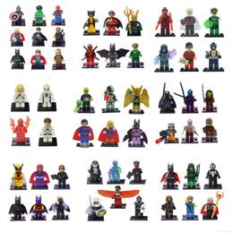 Wholesale Marvel . DC Super Heroes 55pcs lot Minitoy Classic Toys le Building Blocks go Sets Bricks Action Figures Avengers figures toys
