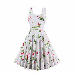 Women Summer Dress 2017 Vintage Rockabilly Dress Jurken 60s 50s Retro Big Swing Floral Pinup Women Audrey Hepburn Dress Vestidos DK3030MX
