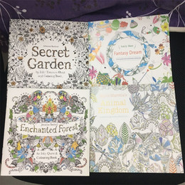 New arrival Secret Garden, Animal Kingdom, Enchanted Forest, Fantasy Dream Coloring Book Adult Children Relax Graffiti Painting Book