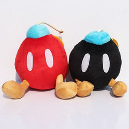Wholesale Super Mario Bros Bomb Plush Stuffed Dolls colors Yoshi Plush Toys CM Plush Toys Keychain Cellphone strap
