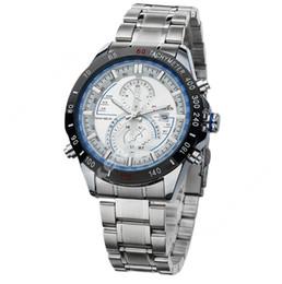 CURREN 8149 reloj de cuarzo de los hombres de carreras, viaje de negocios de moda tres ojos, calendario de reloj impermeable de hombre de acero de diseño