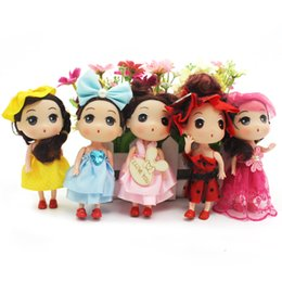 "Children Toys Mini Leggy Baby Cute Gril Dolls for Dollhouse Activities Toy Birthday Children's Day Gift for Kids 4.7"" 5Pcs"
