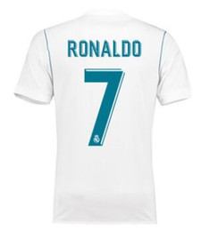 17-18 Home White Thai Quality Soccer Jerseys Shirts,Customized 7 RONALDO 20 ASENSIO 22 ISCO Football Jerseys Tops,mens 8 KROOS Soccer Wear