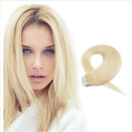 Best Quality 20pcs set 24inch straight Glue Skin Weft PU Tape in Human Hair Extensions Brazilian REMY In Stock Free Shipping Hair Extensions