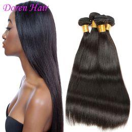 2017 peut teindre remy extensions de cheveux Indien Remy cheveux humains tissent paquets Soyeux droites peuvent être teints trames de cheveux humains pour les femmes noires droites extensions de cheveux humains Vente chaude peut teindre remy extensions de cheveux sur la vente