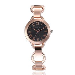 Luxury fashion ladies watch fashion trend quartz wrist watch stainless steel hollow quartz wrist watch free delivery