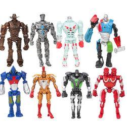 Descuento películas de acción Real Acero Noisy Boy Twin Cities figura de acción Película de juguete muñeca regalo 13cm / 5inch niños de dibujos animados DIY juguetes modelo de decoración KKA1483