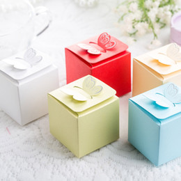 Wholesale Butterfly Style Favor Gift Candy Cake Boxes For Wedding Party Baby Shower Non personalised