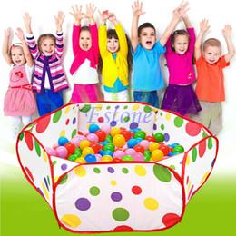 Descuento m seguridad Venta al por mayor-0.9m 1 m 1.2m 1.5m Seguridad Kids Play Tenda PolkaDot Hexágono Baby Playpen Malla Indoor Stress Ocean Ball Piscina Play Yard Tiendas